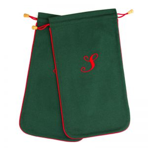 Cuyler and Davy | Monogramming | Shoe Bag Green / Red 2