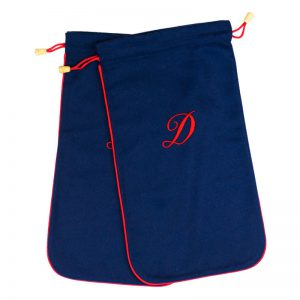 Cuyler and Davy | Monogramming | Travel Accessories | Blue / Red Shoe