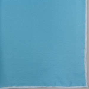 Silk Pocket Square (Parrot/Blue Shoestring)