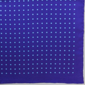 Silk Pocket Square (Purple/Sky Spot)