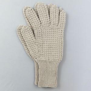 Hand Knitted String Riding Gloves (Mushroom)