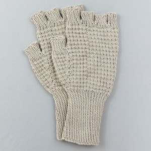 Hand Knitted String Riding Mittens (Mushroom)