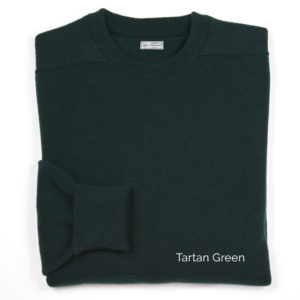 Mens Cashmere Crew Neck Pullover (Tartan Green)
