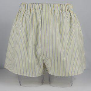 Boxer Shorts (Blue/Yellow Stripe)