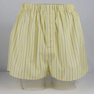 Boxer Shorts (Yellow/Blue Stripe)