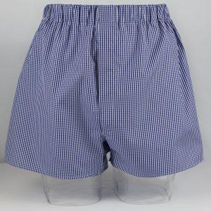 Boxer Shorts (Navy Blue Check) BO1248