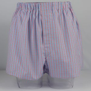 Boxer Shorts (Blue/Red Check) BO1328