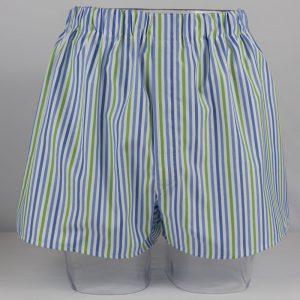 Boxer Shorts (Blue/Green Stripe)