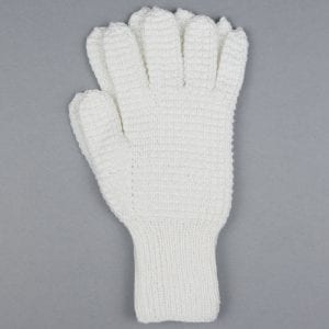 White Hand Knitted Riding Gloves