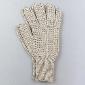 Natural Hand Knitted Riding Gloves