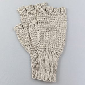 Natural Hand Knitted Riding Mittens