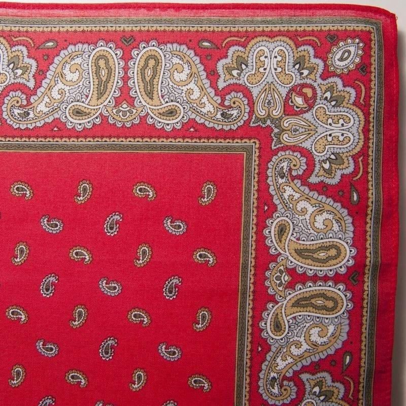 Pine & Paisley Bandana / Handkerchief (Red)