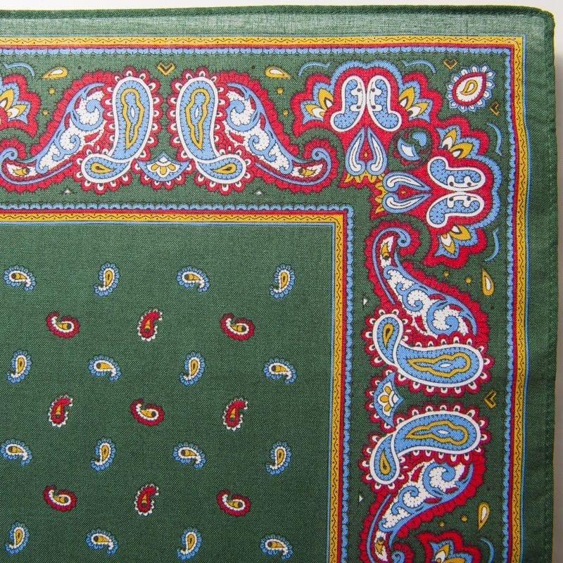 Pine & Paisley Bandana / Handkerchief (Green)