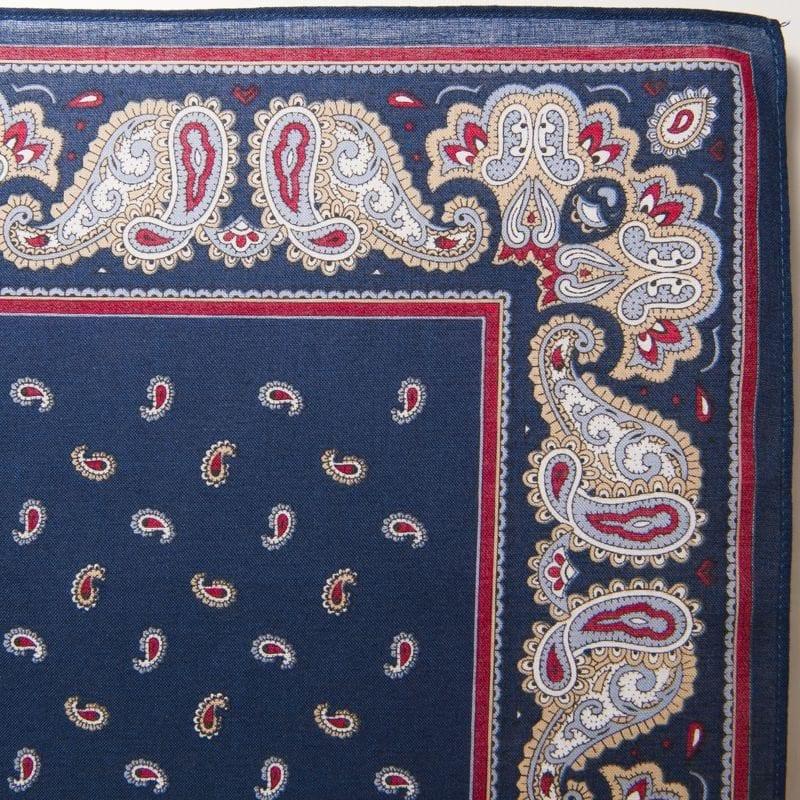 Pine & Paisley Bandana / Handkerchief (Navy)