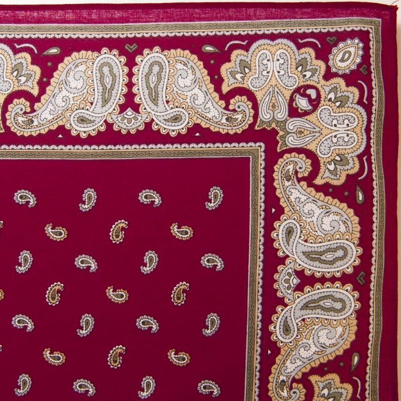 Pine & Paisley Bandana / Handkerchief (Burgandy)
