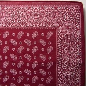Pine Bandana / Handkerchief (Burgandy)
