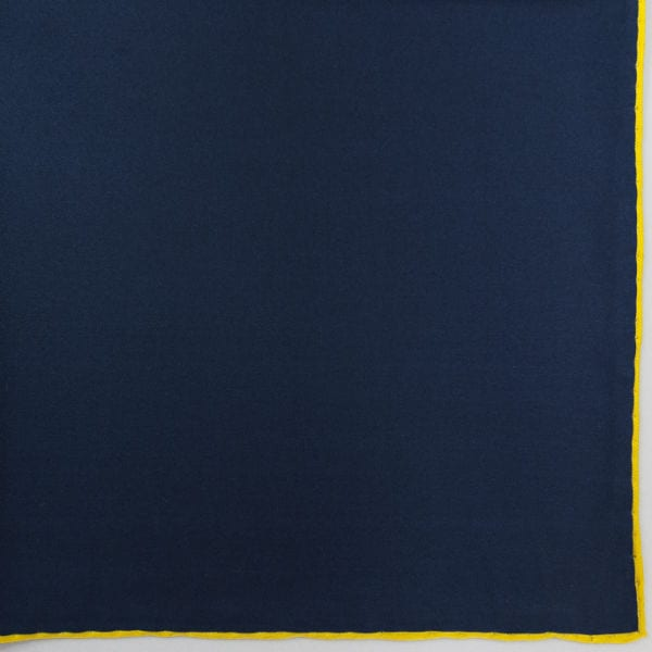 Silk pock square - navy and yellow