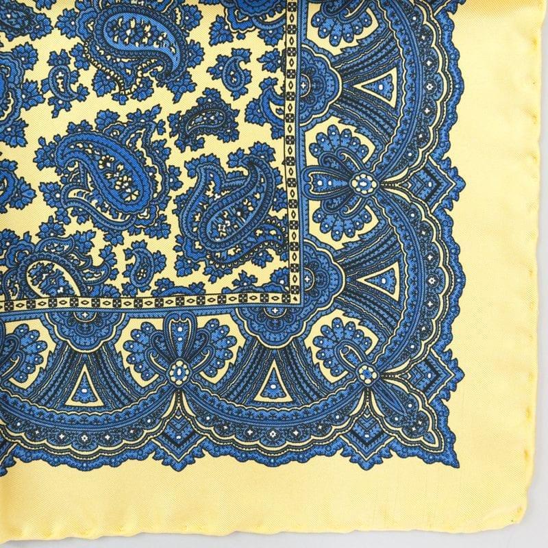 Silk pock square - Paisley - yellow