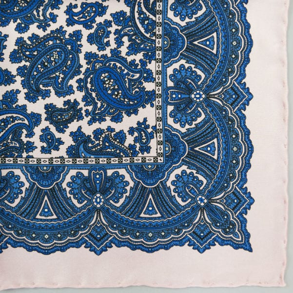 Silk pock square - Paisley - Pink