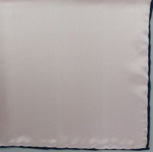 Silk pock square - pink and navy
