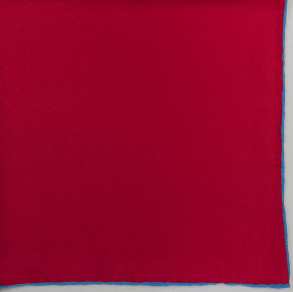 Silk pock square - red and blue