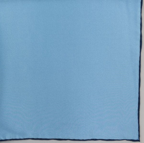 Silk pock square - blue and navy