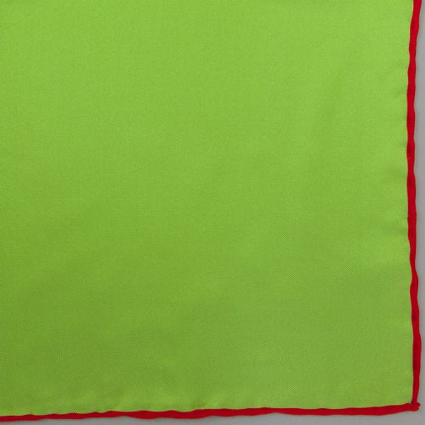 Silk pock square - green and red
