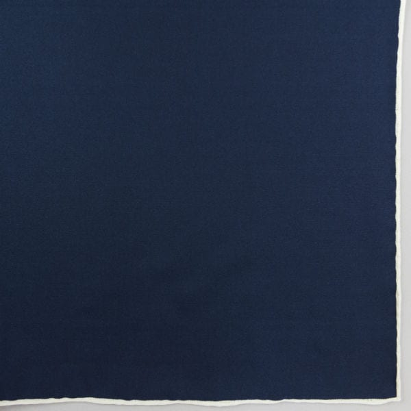 Silk pock square - navy and white