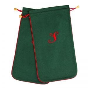 Green & Red Shoe Bag