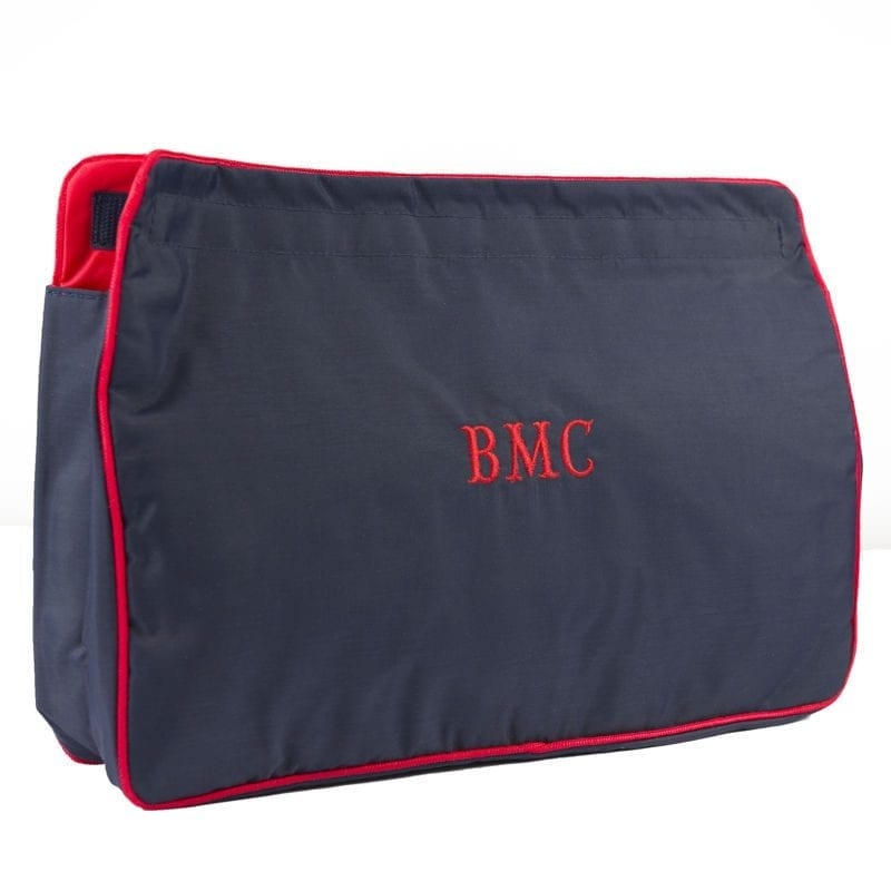 Navy & Red Large Sponge Bag