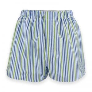 Boxer shorts - blue and green stripes