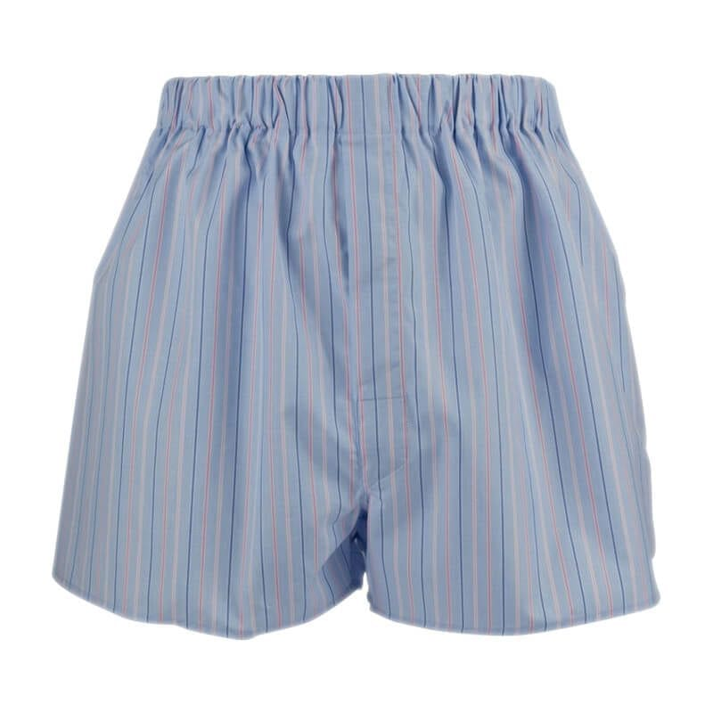 Boxer shorts - blue with pink stripes