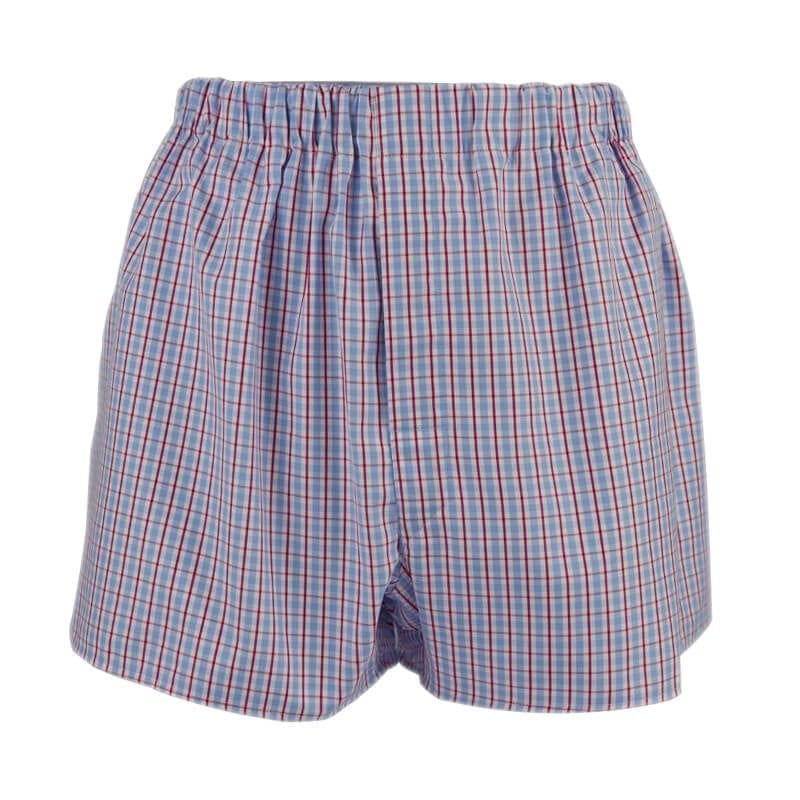Boxer shorts - red and blue check