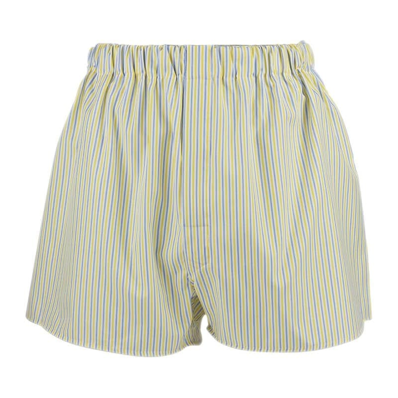 Boxer shorts - yellow with blue stripes