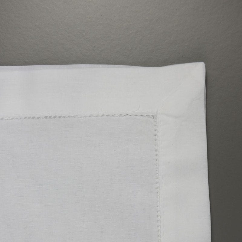 Large White Cotton Handkerchief Border