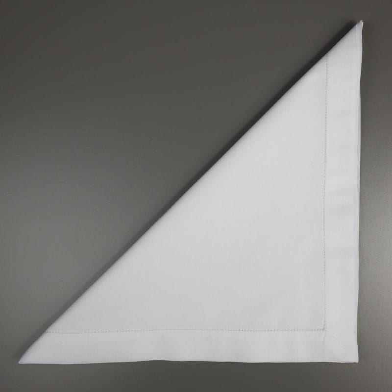 Large White Cotton Handkerchief Folded