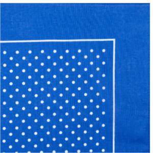 Small Spot Bandana / Handkerchief (Light blue with white spot)