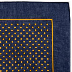 Small Spot Bandana / Handkerchief (Navy with gold spot)