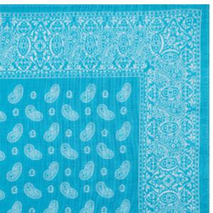 Pine Bandana / Handkerchief (Turquoise)