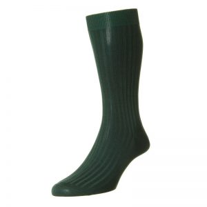 Danvers Cotton Lisle Sock (Dark Green)