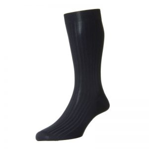 Danvers Cotton Lisle Sock (Navy)